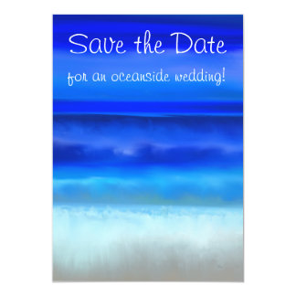 Folk Art Night Ocean Save the Date Invitation