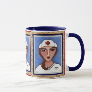 Folk Art Nurse - RN / nursing mug of healing