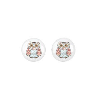Folk Art Owl Earrings