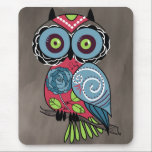 """Folk Art Owl - Gorgeous! Mouse Pad<br><div class=""""desc"""">This is a gorgeous folk art style owl. Perfect gift for any occasion.</div>"""