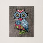 Folk Art Owl - Gorgeous! Puzzle
