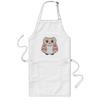 Folk Art Owl Long Apron