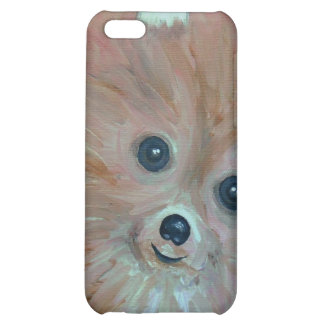 Folk Art Pomeranian Painting by prisarts iPhone 5C Cover