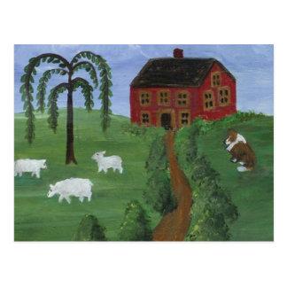 Folk Art Postcard