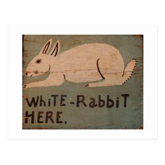 Folk Art Rabbit Postcard