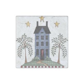 Folk Art Saltbox House & Willows Magnet