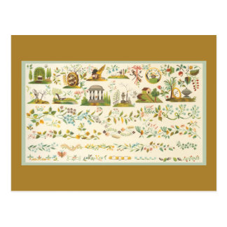 Folk Art Sampler Postcard