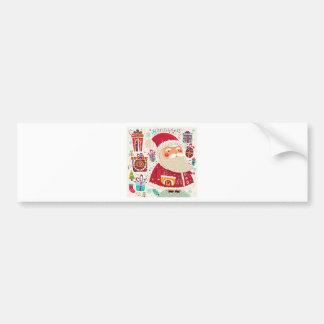 Folk Art Santa Claus Bumper Sticker