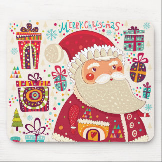Folk Art Santa Claus Mouse Pad