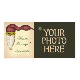 Folk Art Santa Photo Card Template