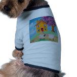 folk art sheep dog t-shirt