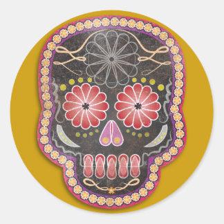 Folk Art Skull - day of the dead Sticker