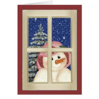 Folk Art Snowman Greeting Cards
