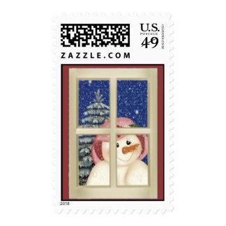 Folk Art Snowman Stamp