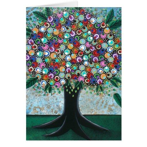 FOLK ART Spring On My Mind BY LORI greeting card