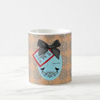 Folk Art Style Christmas Bauble And Bow Coffee Mug