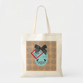 Folk Art Style Christmas Bauble And Bow Tote Bag