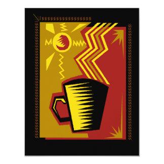 Folk Art Style Coffee Tea Social Party Invitations