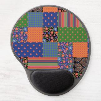 Folk Art Style Faux Patchwork Gel Mousepad