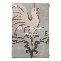 Folk Art Style Rooster iPad Mini Cover