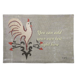 Folk Art Style Rooster Placemats