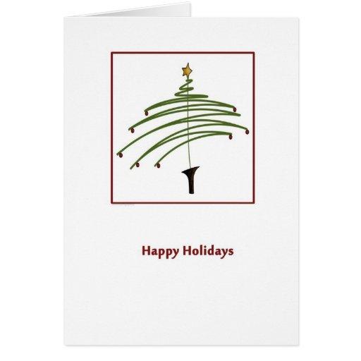 Folk Art Tree Christmas Greeting Card