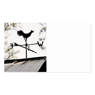 Folk Art Weather Vane on Metal Barn Roof Business Card Template