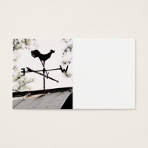Folk Art Weather Vane on Metal Barn Roof Business Card