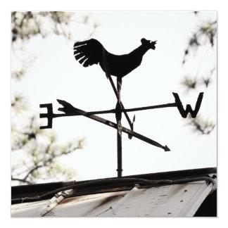 Folk Art Weather Vane on Metal Barn Roof Card