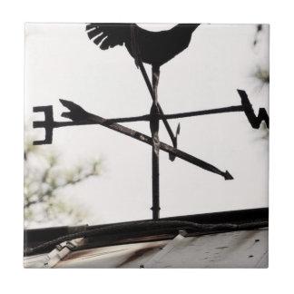 Folk Art Weather Vane on Metal Barn Roof Tile