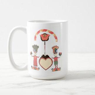 Folk Art Wedding Coffee Mugs