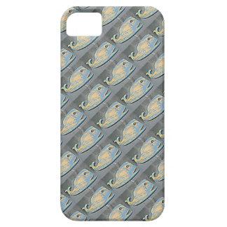 folk art whales swimming iPhone SE/5/5s case