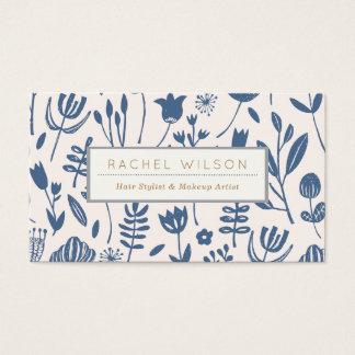 Folk Botanical Print Business Card