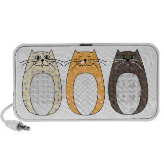 'Folk Cat' Doodle Travel Speaker