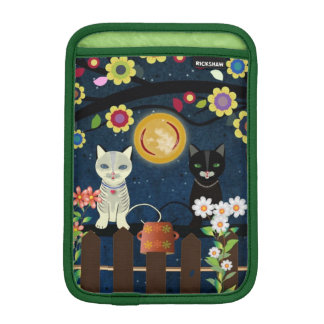 Folk Cats Sitting On A Brunch..., iPad Sleeve