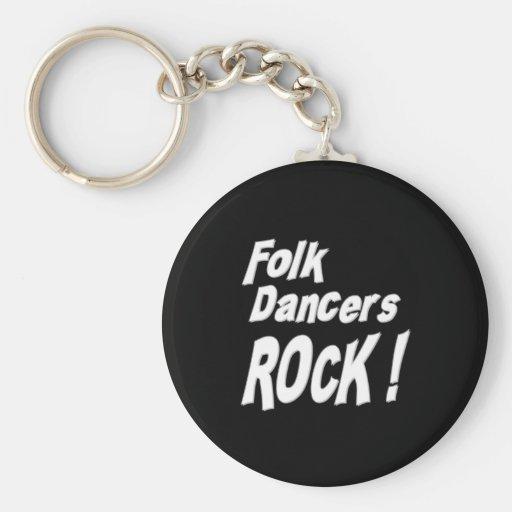 Folk Dancers Rock! Keychain
