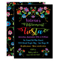 Folk Embroidery Mexican Fiesta Retirement Party Card