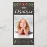 "Folk Floral Christmas Photo Card<br><div class=""desc"">Create a warm and rustic Christmas card with this folk inspired,  botanical design.</div>"