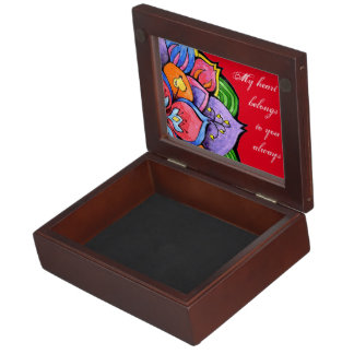 FOLK FLOWER KEEPSAKE BOX