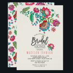 """Folk Flowers   Bridal Shower   Invitation<br><div class=""""desc"""">Cartita design &#169;2016 All Rights Reserved Feel free to change or add text! Design I Hope you enjoy my illustrations! Look for more items in my store!</div>"""