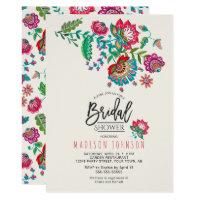 Folk Flowers | Bridal Shower | Invitation