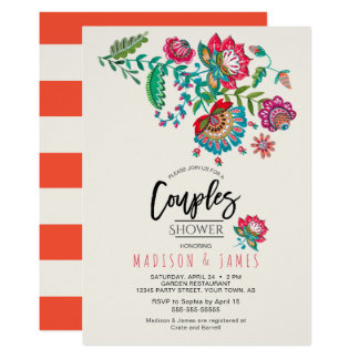 Folk Flowers | Couples Shower | Invitation