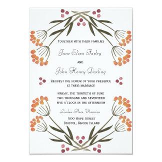 Folk Flowers Invitation