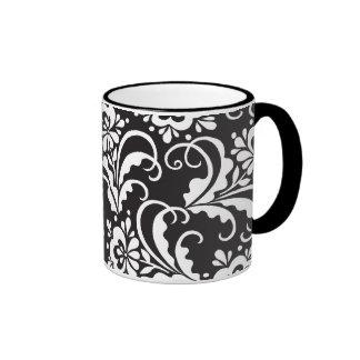 folk flowers ringer mug