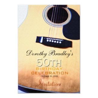 Folk Guitar 50th Birthday Celebration Invitation