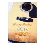 Folk Guitar 60th Birthday Celebration Custom Card