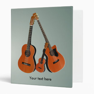 Folk Guitar Acoustic Bass and Ukulele 3 Ring Binder