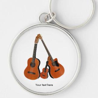 Folk Guitar Acoustic Bass and Ukulele Keychain