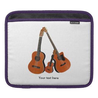 Folk Guitar Acoustic Bass and Ukulele Sleeve For iPads