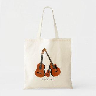 Folk Guitar Acoustic Bass and Ukulele Tote Bag